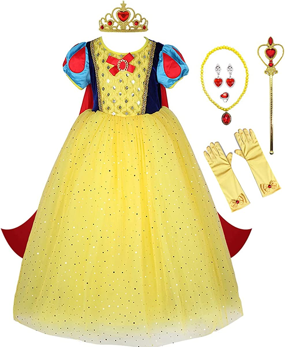 Max 55% OFF FMYFWY Girls Snow White Princess Halloween Carnival OFFicial Costume Chri