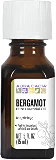 Aura Cacia 100% Pure Bergamot Essential Oil | GC/MS Tested for Purity | 15 ml (0.5 fl. oz.) | Citrus bergamia