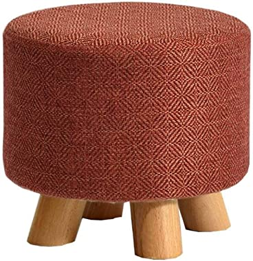 Mscxj Change Shoe Bench Solid Wood Footstools Round Sofa Stool Rest Stool Home Coffee Table Stool Change Shoes Stool for Living Room Hallway