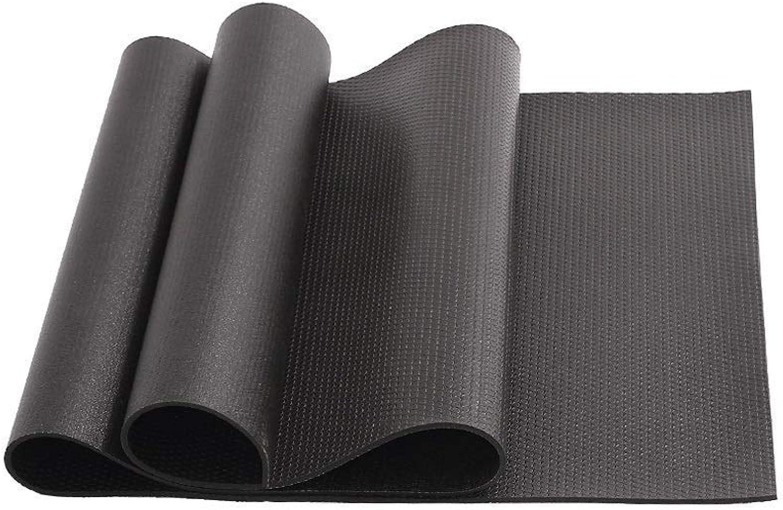 Sports Fitness Mat Yoga Mat Non Slip Rubber Mat Elastic Long Sports Mat Pilates Elastic Mat Professional Mat Yoga Mat Thick 6mm Multi color Optionall (color   Black)
