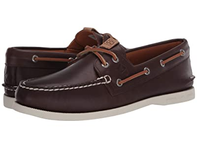 Sperry Authentic Original 2-Eye 85th Anniversary (Brown/White) Men