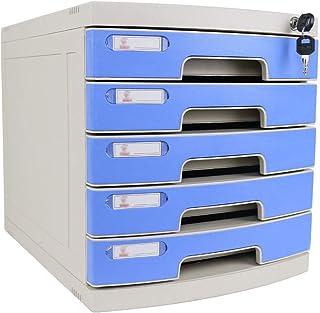 KANJJ-YU Tiroir de bureau Sorter 4 couches verrouillables Bureau de stockage des données confidentialité Tiroir PC de bure...