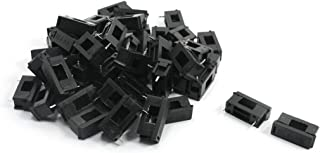 日本市場で強力 uxcellヒューズホルダーBLX-5×20mmブラックプラスチックボード取り付け50個セット