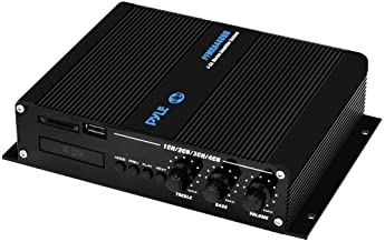 Pyle 4 Channel Marine Amplifier – Compact Power 400 Watt RMS 4 OHM Full Range..
