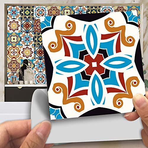 Pegatinas Decorativas Para Azulejos, 15 Cm X 15 Cm, Azulejos Autoadhesivos Para Salpicaduras De Vinilo, Muebles De Baño De Cocina Impermeables, 20 Piezas MZ-183