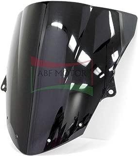 Protek ABS Plastic Injection Black Smoke Double Bubble Transparent Windscreen Windshield for 2009 2010 2011 2012 2013 2014 2015 2016 2017 2018 Kawasaki Ninja ZX6R ZX636 ZX636E ZX636F
