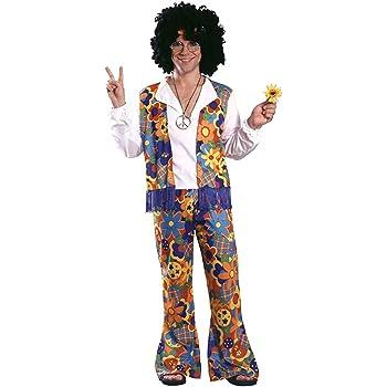 Smiffys-21337 Hippies Kit de Hombre Hippy, Peluca, Gafas, medallón ...