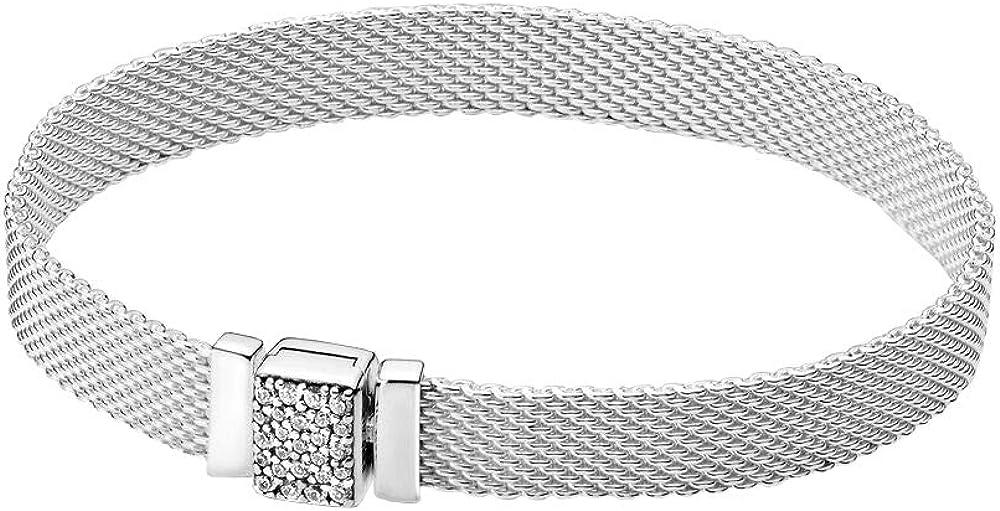 Pandora bracciale  reflexions da donna con chiusura scintillante in argento sterling 925 599166C01-21