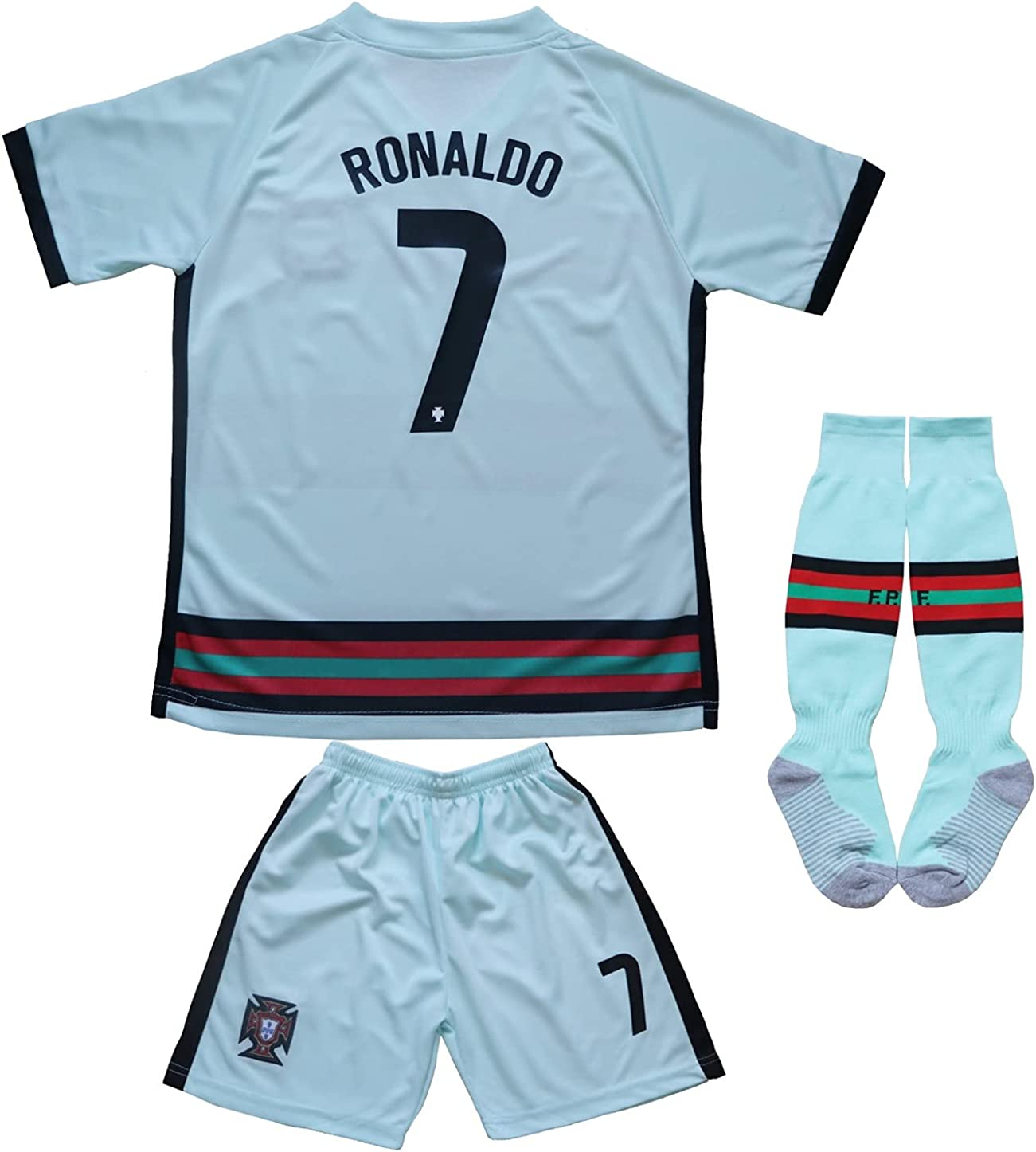 FPF 2021 Portugal #7 Cristiano Ronaldo Football Rare Soccer Jers Kids NEW before selling