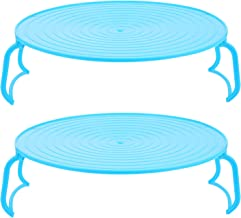 Mobestech 2pcs Blue Steamer Rack Microwave Oven Tray Multi Round Cooling Rack for Baking Canning Cooking Steaming Lifting ...