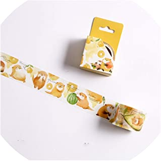 15/30mm Zoo Fruit Paper Decorative Masking Tapeese Stationery Crafts and Scrapbooking Cute Tape,M