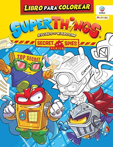 Libro para colorear Superthings Secret Spies Series (Con 3 superzings aleatorios incluidos ) - España