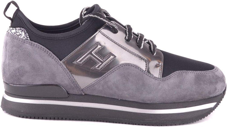 Hogan Women's MCBI29206 Grey Suede Sneakers