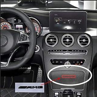 Insignia del Mini Logotipo de la Parrilla Delantera para Mercedes-Benz ABC Clase E W176 W246 W204 W205 W212 W213 GLC X253 GLE W292 Rojo AMYD Emblemas AMG de la Parrilla Delantera del Coche