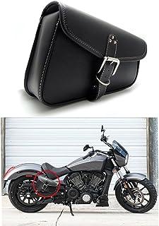 SALAMOPH Universal Motorcycles Lenkertasche Schwarz Motorrad Leder Werkzeugtasche f/ür Harley Yamaha Honda Shadow Kawasaki Suzuki Vulcan