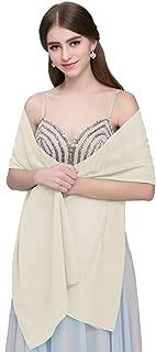 Kileyi Women's Soft Chiffon Shawl Wrap Scarf for Wedding Evening Formal Dresses