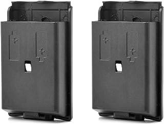 Neuftech 2X Caja Cubierta de Batería Tapa Battery para Xbox 360 Wireless Controller,Negro