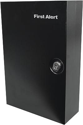 First Alert 3060F Steel Wall Mount Key Cabinet, 0.15 Cubic ft, Black