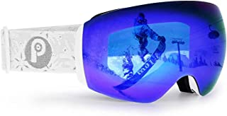 PP PICADOR Picador Frameless Ski Goggles with Anti-Fog UV400 Protection Cylindrical Lens for Women and Men