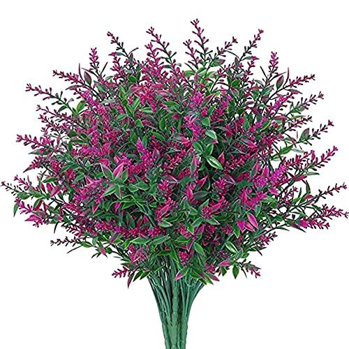 6 unidades de flores artificiales de lavanda para decoración de interiores, bodas,...