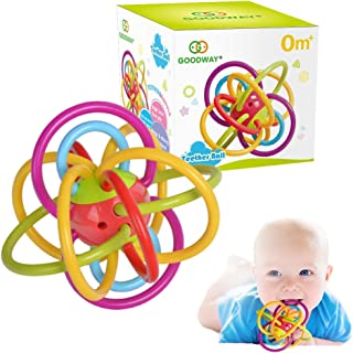 GOODWAY Baby Rattle & Sensory Teething Toys for Babies 0-6-12 Months, Hanging Toys, Baby Teether Toys, Infant Toy for 3-6,6 to 12 Months Newborn, Infant, Boy, Girl (M)