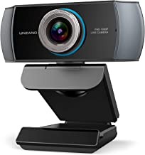Full HD Webcam 1080P, Streaming Camera, Webcam with Microphone, Wide Angle USB Computer Camera with Facial-Enhancement Tec...