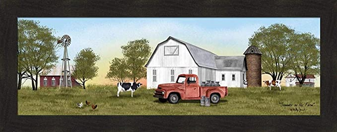 by Billy Jacobs 16x20 Dairy Cow Cows Classic Truck FRAMED ART Y/'ALL NEED MILK