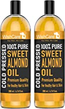 WishCare® Pure Cold Pressed Sweet Almond Oil for Hair and Skin - Combo Pack of 2 (200 Ml each)