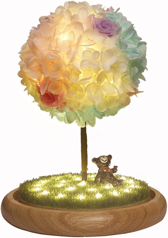 Kreative Lampe Wunschbaum Lampe Schlafzimmer Nachttischlampe Tischlampe Geburtstagsgeschenk Tischlampe getrocknete Blaume Tischlampe