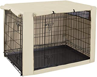 HiCaptain Polyester Dog Crate Cover - Durable Windproof Pet Kennel Cover for Wire Crate Indoor Outdoor Protection (42 inch...