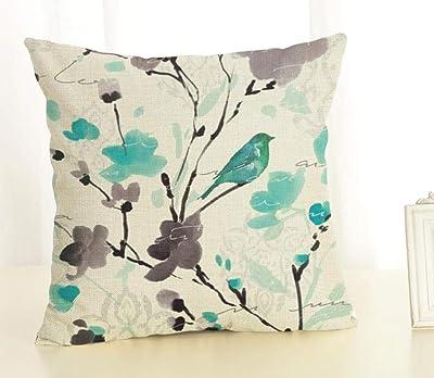 Zara-Decor Meowdern-Minty - Funda de cojín Decorativa para ...