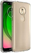FINON Clear Perfect Body Model [ TPU Bumpers/PC ] for Motorola Moto G7 Play Case with Hybrid Protective Clear and Impact Resistance - Clear