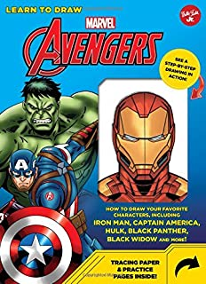 Learn to Draw Marvel Avengers: How to draw your favorite characters, including Iron Man, Captain America, the Hulk, Black Panther, Black Widow, and more!