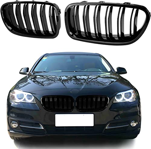 discount F10 Front high quality Replacement Kidney Grille,Double Lamelled Sport Style Mat Grille, Replacement Grille Compatible with BMW 5 Series outlet online sale F10 F11 F18 M5 (2010-2017) sale
