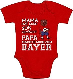 Shirtgeil Mama hat Mich süß gemacht Papa machte Mich zum Bayer Baby Body Kurzarm-Body