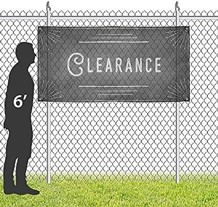 CGSignLab 8x4 Clearance Chalk Corner Wind-Resistant Outdoor Mesh Vinyl Banner