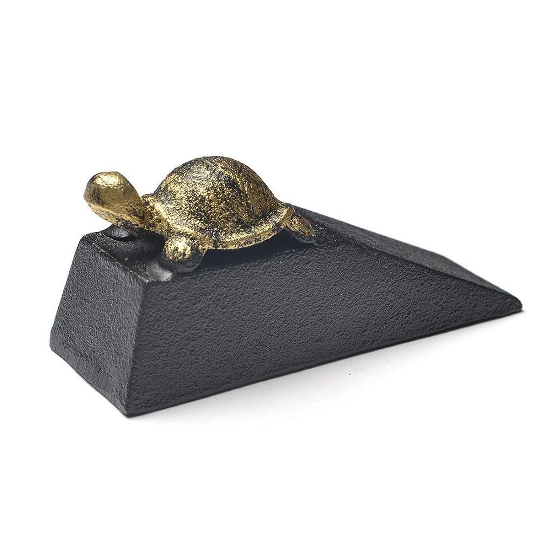 常識おなじみのトランクドアストッパー 鋳鉄ゴールド亀ドアストッパーヘビー防風ドアウェッジカメ装飾ドアストップ 装飾 (Color : Black, Size : 13.5X7X4CM)