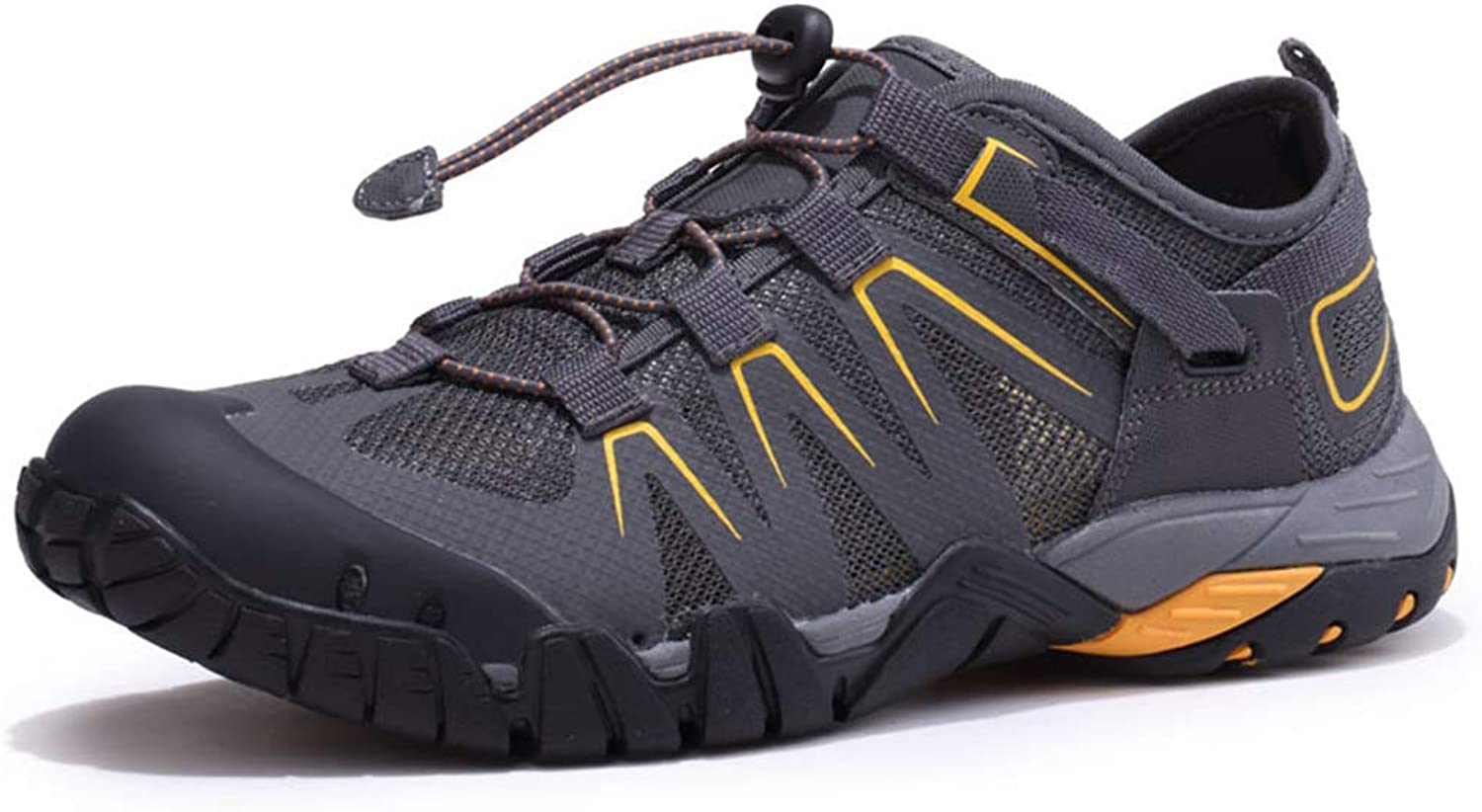 SELCNG Hiking shoes Unisex Walking shoes Waterproof Walking shoes Men's Walking shoes with Outdoor Sports Hiking shoes Non-Slip outsole-grey-44