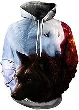 2018 Wolf Hoodies Men/Women 3D Sweatshirts Print Panda Balloon Hoody Hooded Hoodies Tracksuits Tops
