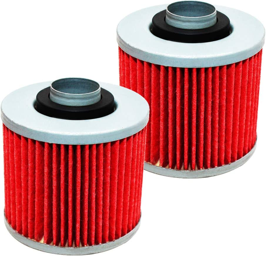2 Pack Yerbay Motorcycle Oil Filter for Yamaha 600 Grizzly YFM600 1998-2001//700 Raptor YFM700 2013-2016
