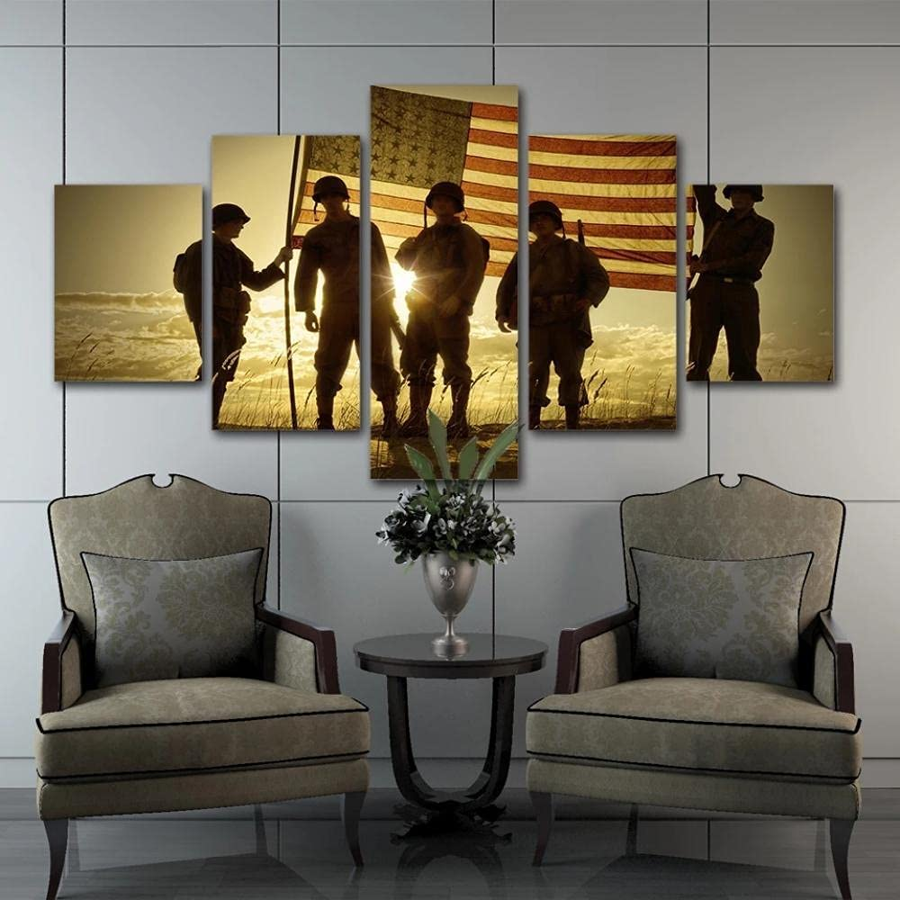 excellence ZHONGZHONG free shipping Wall Art Picture Decor 5 Panel Prints W Canvas Poster