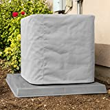 SugarHouse Custom Outdoor Air Conditioner Cover - Made-to-Order - Premium Marine Canvas - Made in The USA - 7-Year Warranty - Gray
