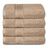 TRIDENT Juego Toallas de baño - Soft & Plush - 100% algodón, 500 gsm, 4 Pieza Juego Toallas de baño, súper Absorbente, Ultra Suave (Bellota)