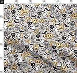 Totenköpfe, Halloween, Geist, Spinnennetz, eins, Süßes