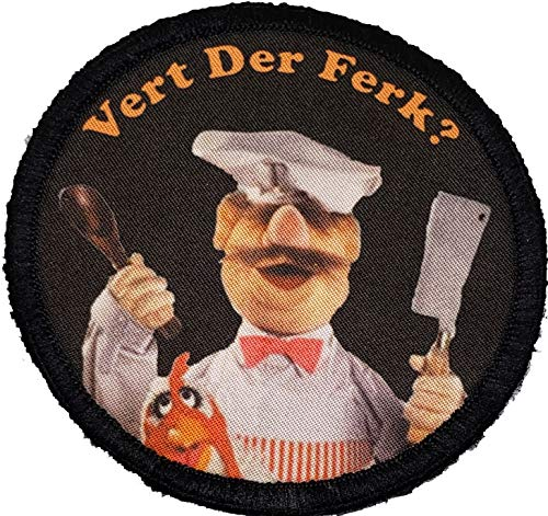 Muppets Swedish Chef Morale Patch. Perfect for Your Tactical Military Army Gear, Backpack, Operator Baseball Cap, Plate Carrier or Vest. 2x3' Hook Patch. Made in The USA