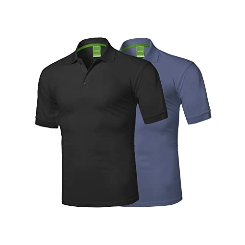 9b629edd Men's Solid Cool Dri-Fit Active Athletic Golf Short Sleeves Polo Shirt