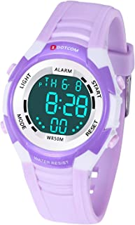 Kids Digital Watch with 7-Color LED Light Multifunction 50M Waterproof Sports Watch for Boys and Girls