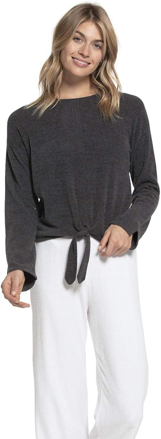 Barefoot Dreams CozyChic Ultra Lite Tie-Front Top, Lightweight Sweater
