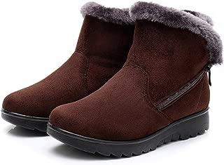 Women Snow Boots Warm Short Fur Plush Winter Ankle Boot Plus Size Platform Ladies Suede Zip Shoes Female Comfort