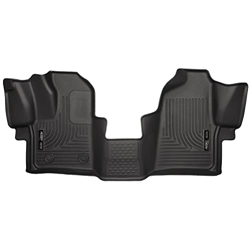 Husky Liners 18771 Black Weatherbeater Front Floor Liners Fits 2015-2019 Ford Transit-150